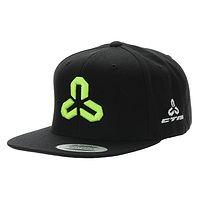 czapka z daszkiem CTM Classic Snapback - Black/Black/Neon Green