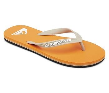 žabky Quiksilver Molokai - XNNW/Orange/Orange/White