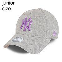 dziecięca czapka z daszkiem New Era 9FO CY Jersey Essential MLB New York Yankees Youth - Grey Melange/Violet