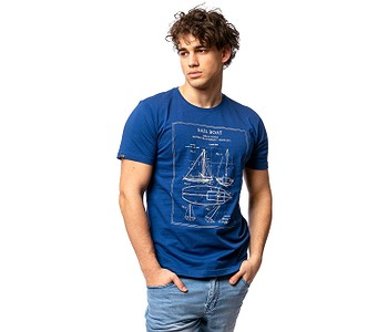 tričko Heavy Tools Masley - Dark Blue
