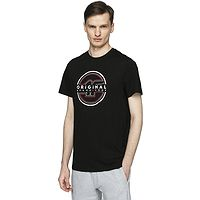 T-Shirt 4F H4L21-TSM019 - 20S/Deep Black - men´s