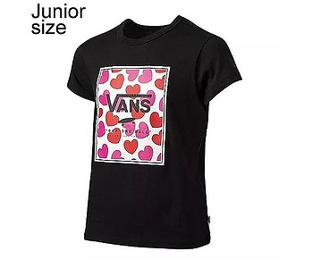 tričko Vans Boxed Hearts - Black