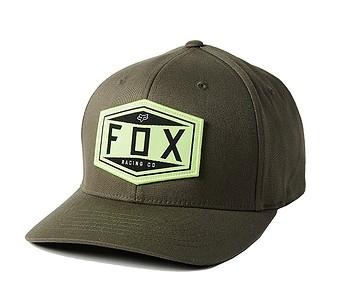 kšiltovka Fox Emblem Flexfit - Olive Green