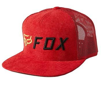 kšiltovka Fox Apex Snapback Trucker - Red/Black