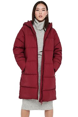 kabát ONLY Sienna Long Puffer Otw - Rhubarb