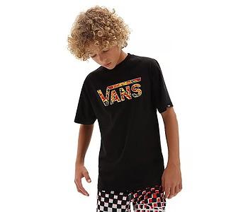 tričko Vans Classic Logo Fill Boys - Black/Flame Camo