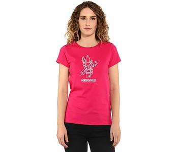 tričko Horsefeathers War Paint - Rose Red