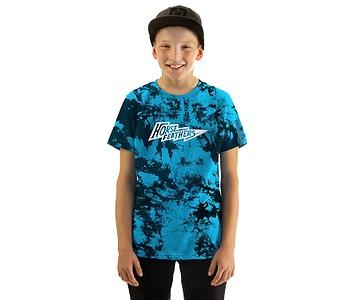 tričko Horsefeathers Flash Youth - Blue Tie Dye