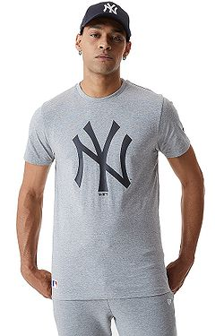 tričko New Era Sea Team Logo MLB New York Yankees - Heather Grey/Black