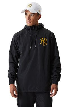 bunda New Era Metalic Windbreaker MLB New York Yankees - Black