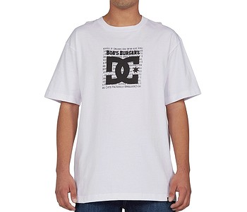 tričko DC DC X Burger Box - WBB0/White
