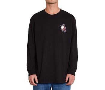 tričko Volcom Freak City Fa LS - Black