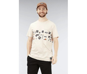 tričko Picture Will Melange - Beige Melange