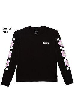 tričko Vans Bloom Checkz LS - Black