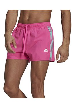 kúpacie šortky adidas Performance Very Short Length Classic 3 Stipes - Screaming Pink/Acid Mint