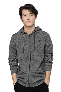 mikina 4F H4L21-BLM016 Zip - 23P/Dark Grey Salt & Pepper