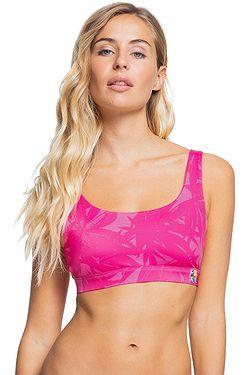 swimsuit Roxy Pop Surf Bralette - XWMM/Beetroot Purple Texture Flower - women´s