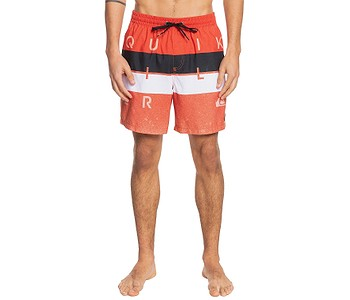 koupací šortky Quiksilver Word Block Volley 17 - NZE6/Pureed Pumpkin