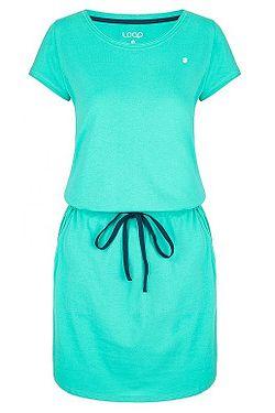šaty Loap Besie - P45M/Aqua Green/Blue