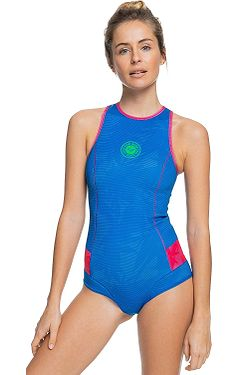 neoprén Roxy 1.0 Popsurf Back Zip Bikini Rc Springsuit Q-LCK - XBBM/Princess Blue/Beetroot Purple