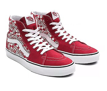 boty Vans Sk8-Hi - Off The Wall/Chili Pepper/Racing Red