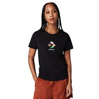 T-shirt Converse Sun Fill Star Chevron Classic/10022179 - A02/Converse Black - women´s