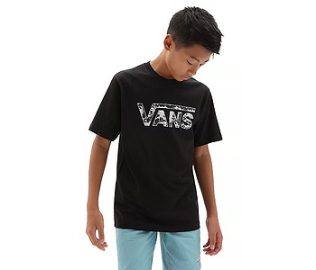 tričko Vans Classic Logo Fill Boys - Black/Tie Dye Skull