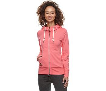 mikina Ragwear Paya Zip - 4043/Pink