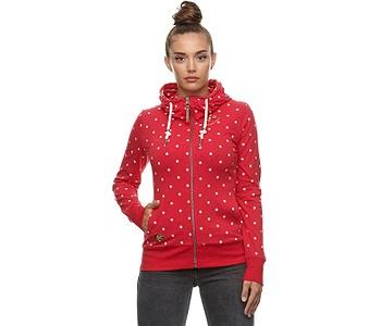 mikina Ragwear Paya Dots Zip - 4000/Red