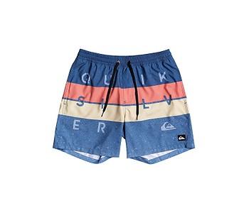 koupací šortky Quiksilver Word Block Volley 15 - BPZ6/True Navy