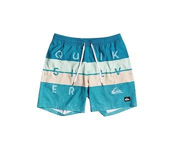 koupací šortky Quiksilver Word Block Volley 15 - BPJ6/Fjord Blue