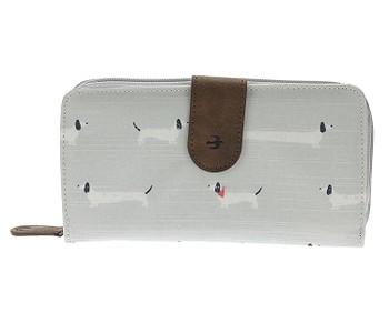 peněženka Brakeburn Sausage Dog Foldover Purse - Grey