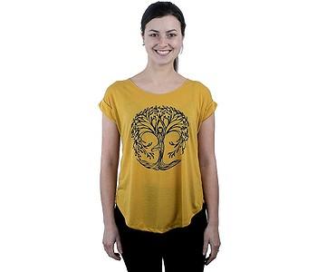 tričko Sittar Darika - Yoga Tree/Yellow