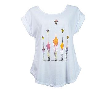 tričko Sittar Darika - Giraffe Family/Multicolor