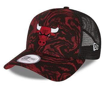 kšiltovka New Era 9FO AF Seasonal Camo Trucker NBA Chicago Bulls - Red