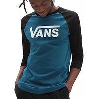 T-Shirt Vans Classic Raglan - Blue Coral/Black - men´s