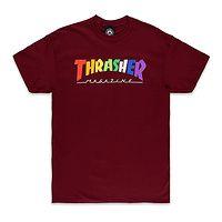 T-Shirt Thrasher Rainbow Mag - Maroon - men´s