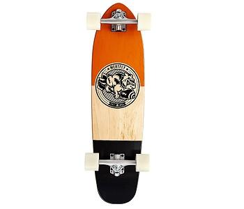 longboard Meatfly Bombastic Cruiser - Cognac/Wood/Black