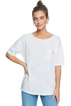 T-Shirt Roxy Fairy Night B Pocket - WBK0/Snow White - women´s