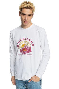 tričko Quiksilver Mountain Side LS - WBB0/White