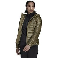 Jacke adidas Performance Varilite Down Hooded - Focus Olive - women´s