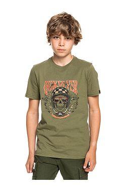tričko Quiksilver Biker Skull - GPH0/Four Leaf Clover