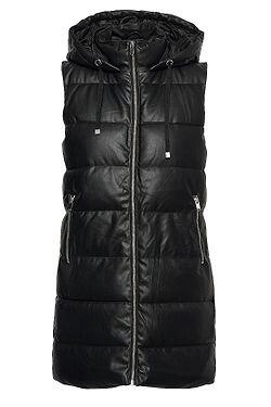 vesta ONLY Dia Faux Leather Waistcoat CS Otw - Black