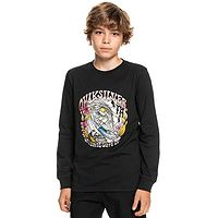 T-Shirt Quiksilver Wavey Skull LS - KVJ0/Black - boy´s
