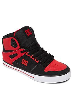 boty DC Pure High -Top WC - FWB/Fiery Red/White/Black