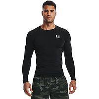 tričko Under Armour HeatGear Armour Comp LS - 001/Black/White