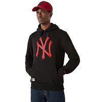 sweatshirt New Era Seasonal Team Logo Hoody MLB New York Yankees - Black/Hot Red - men´s