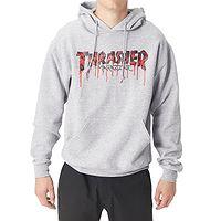 felpa Thrasher Blood Drip - Ash Grey - men´s
