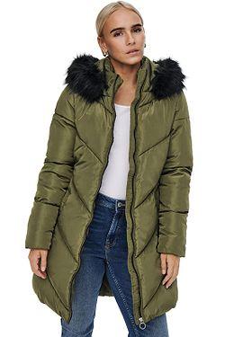 kabát ONLY Mynte BF Long - Beech
