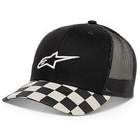 cap Alpinestars Check Trucker - Black - men´s